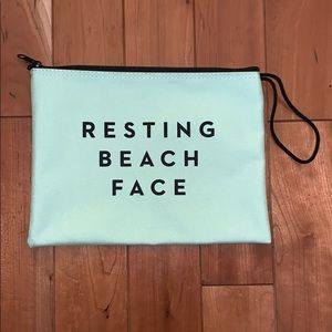 Brand New Milly Resting Beach Face Zip Pouch